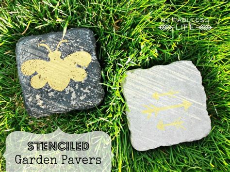 easy garden crafts craftaholics anonymous 174 garden craft stenciled pavers