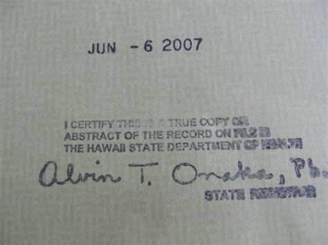 Hawaii Birth Certificate Records Debunking Birther Talking Points