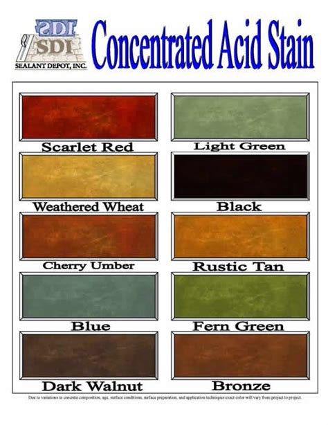 pin by broussard on concrete stain colors