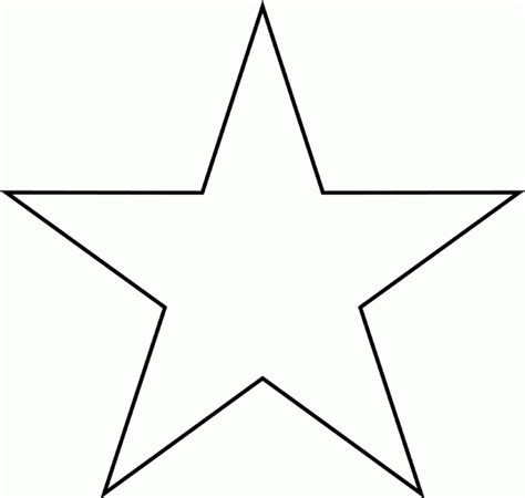 outline of star shape hd printable coloring pages