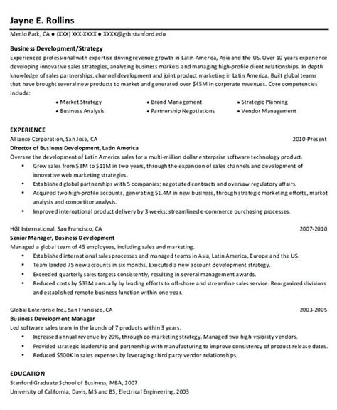 Business Program Manager Sle Resume by Professional Manager Resume