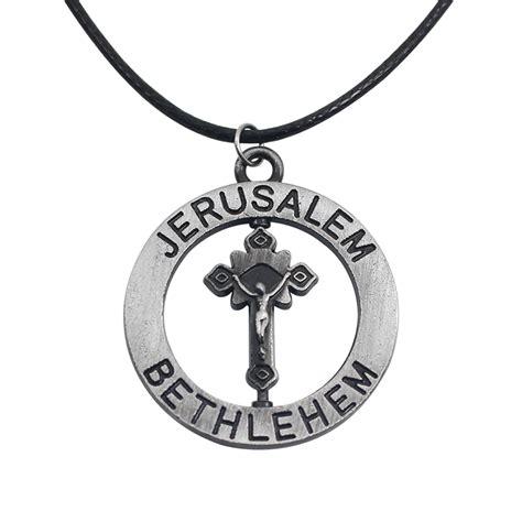 get cheap jerusalem cross necklace aliexpress