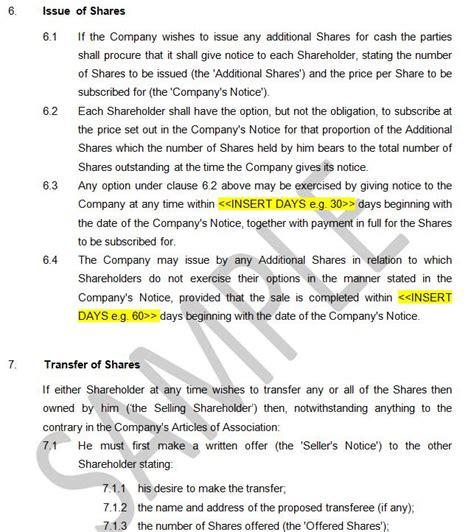 shareholders agreement protection majority shareholders