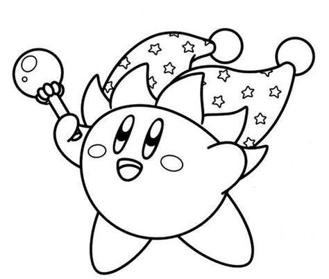 printable coloring pages kirby jester kirby coloring page coloring therapy
