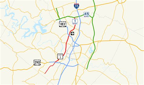 texas toll map texas state highway loop 1