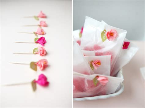 How To Make Miniature Paper Flowers - mini crepe paper flower favors diy