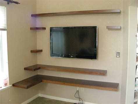 Floating Corner Shelf For Tv by Corner Shelves And Flat Screen Gimmie A House