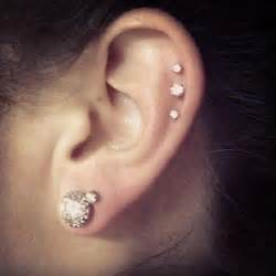cartilage and earlobe piercing