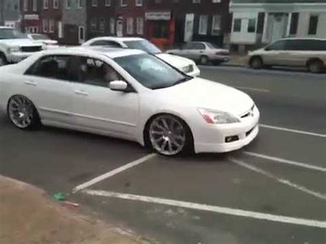 custom honda accord 2005 white youtube