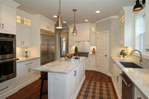narrow kitchen with island 50 gorgeous kitchen designs with islands designing idea