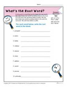 what is a root word 1st and 2nd grade worksheet