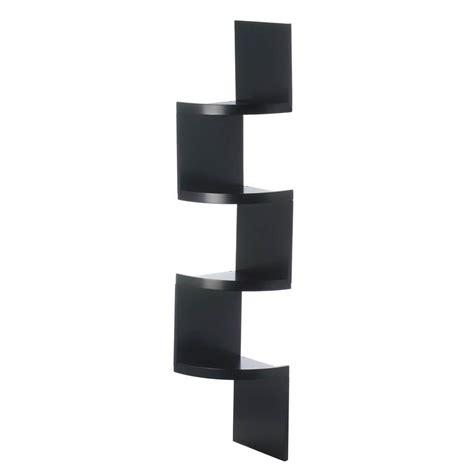 zig zag 4 tier black corner shelf wholesale at koehler