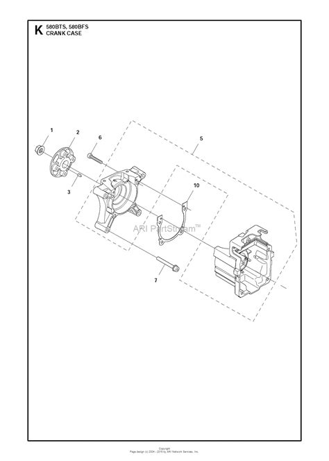husqvarna bts   parts diagram  crankcase