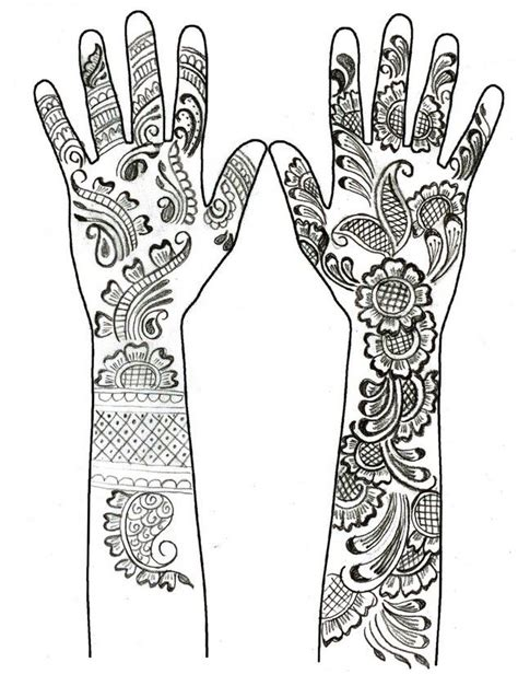 mehndi patterns coloring pages henna hand tattoos mandalas such pinterest henna hands