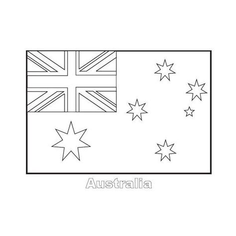 Australian Flag Coloring Page To Really Encourage To Color Australian Flag Colouring Page