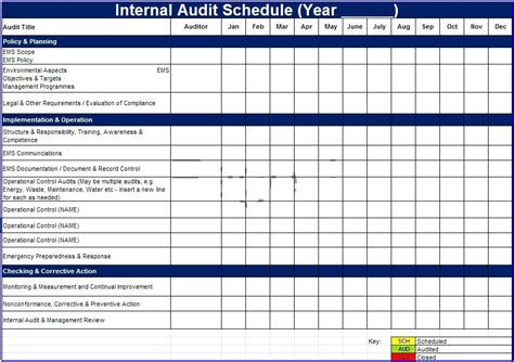Audit Schedule Template Excel Hydrellatone Info Annual Audit Plan Template Excel