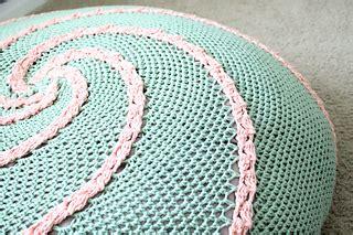 free crochet bean bag chair pattern ravelry spiral floor pouf pattern by abigail