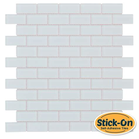 peel and stick subway glass mosaic tile white mosaic