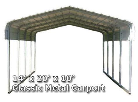 10 X 20 Metal Carport 14 W X 20 L X 10 H Classic Metal Carport