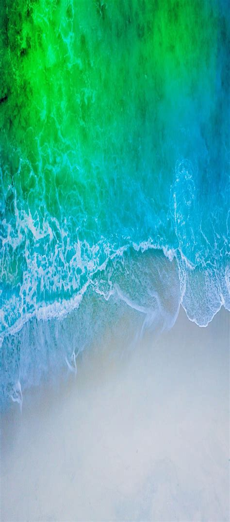 ios  iphone  aqua blue water beach wave ocean