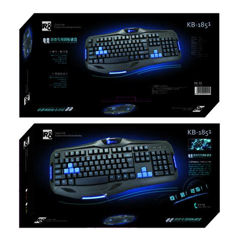 R8 1822 Gaming Keyboard Black 1 r8 professional gaming keyboard computer keyboard