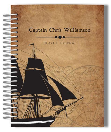 design custom journal vintage pirate ship personalized journal custom journals