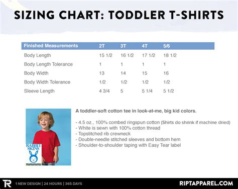 size 5t measurements what are the sizes of your garments ript apparel helpdesk