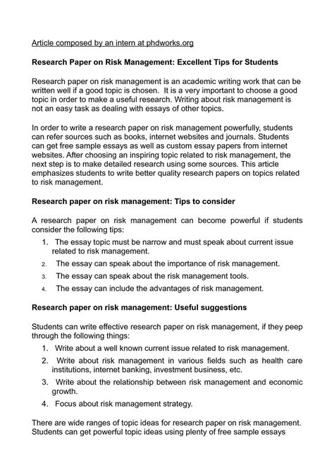 Good topics for economic research papers. A List Of Ideas