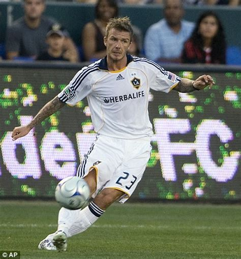 David Beckham Injures Knee In Soccer Match by David Beckham Soccer David Beckham Photos David