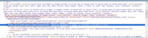 primefaces ui layout unit content jsf 2 how to find unnamed component in jsf primefaces