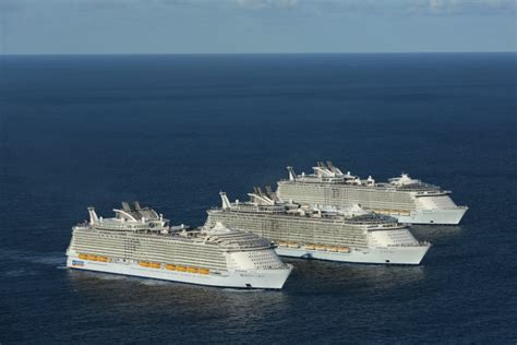 largest cruise ship world s 3 largest cruise ships meet for the time