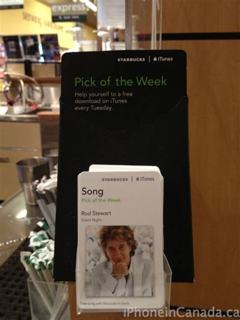 starbucks song pick   week silent night  rod stewart iphone  canada blog