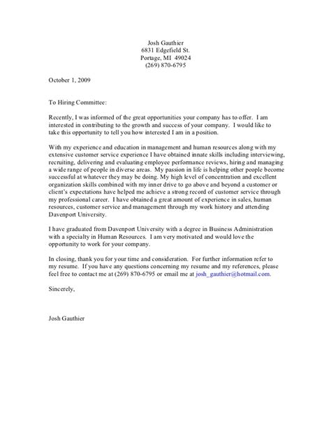 revision cover letter cover letter 2009 general revised