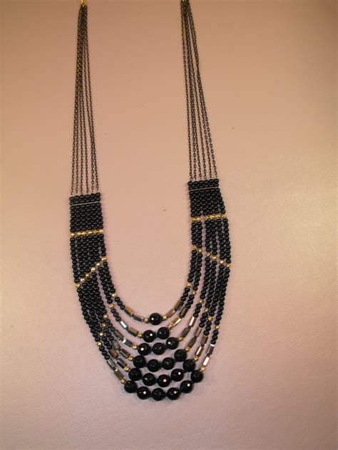 multi strand black bead necklace multi strand black onyx bead necklace clive s unique jewelry
