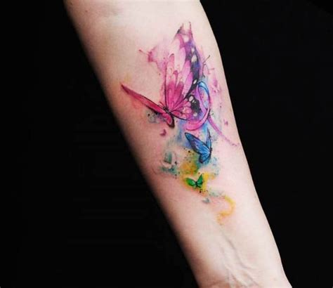 watercolor tattoos vs regular tattoo the 25 best colorful butterfly ideas on