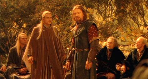 council of elrond sean bean in lord of the rings fellowship