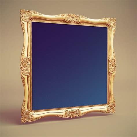 1d baroque painting frame 3d model