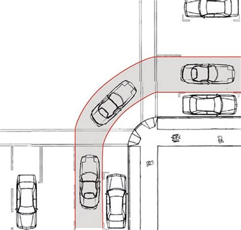 Dimensions Two Car Garage Curb Radius Changes Sf Better Streets