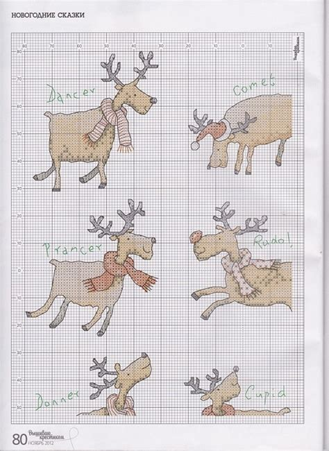 reindeer section cross stitch santa s reindeer part 4 color chart on