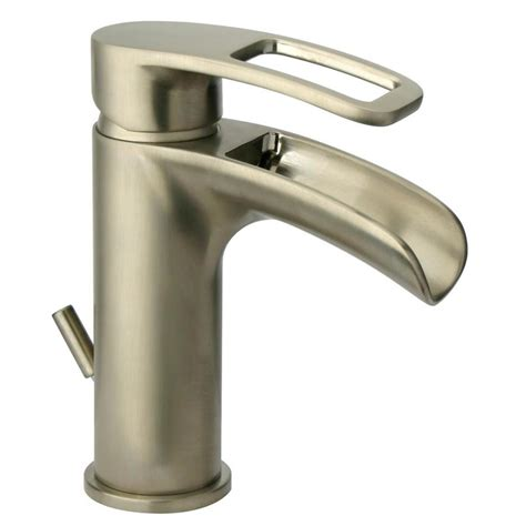 jacuzzi bathtub faucets shop jacuzzi bretton brushed nickel 1 handle single hole