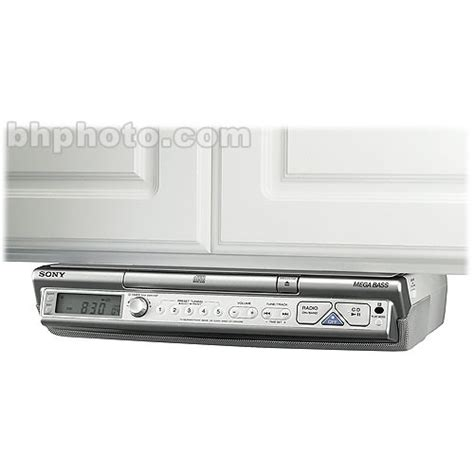 kitchen stereo under cabinet sony icf cd543 under cabinet kitchen cd clock radio