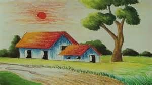 Landscape Pictures Easy To Draw Easy Landscape Drawing For Beginners Drawing Gallery