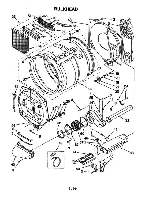 kenmore electric dryer parts diagram kenmore 90 series model 110 60912990 parts diagram dryer