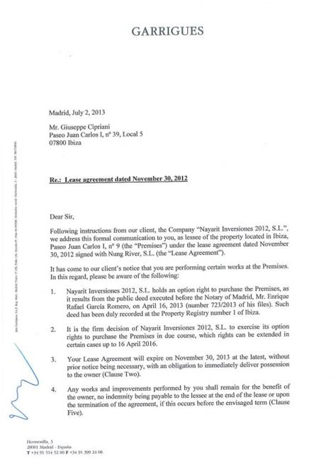 Lease Renewal Letter Exles business agreement renewal letter 28 images business