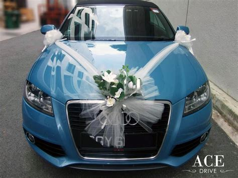 Vehicle Decorations by Audi A3 Wedding Car Decorations By Ace Drive Car Rental