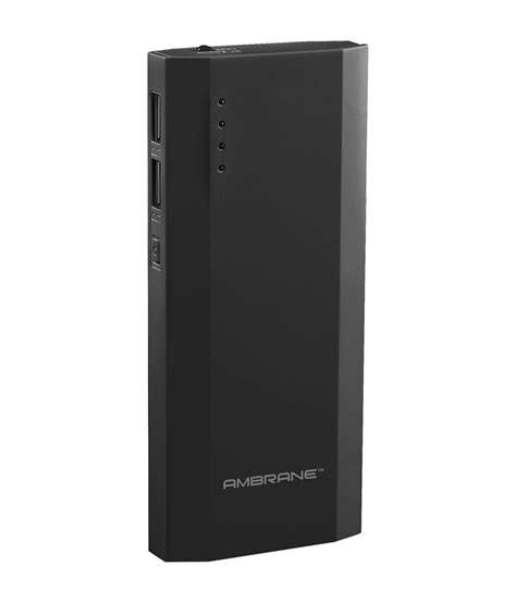 Ambrane P 1111 10000 mAh Power Bank   Black   Power Banks
