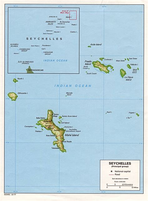 seychelles map seychelles country profile nations project