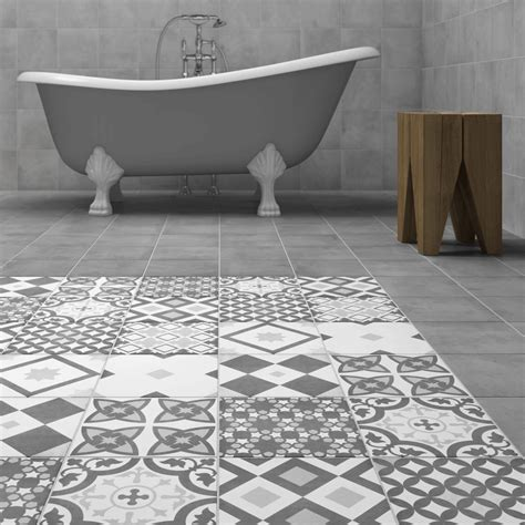 Shop the Vibe Grey Patterned Wall and Floor Tiles   223 x