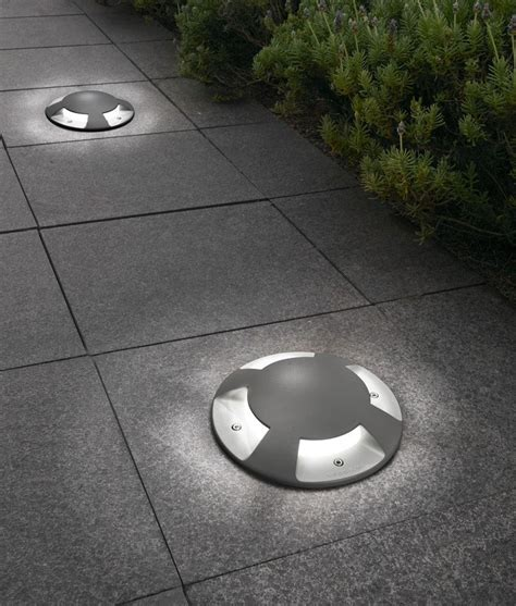 ground lights for driveways exterior recessed indicator ground light 200mm diameter