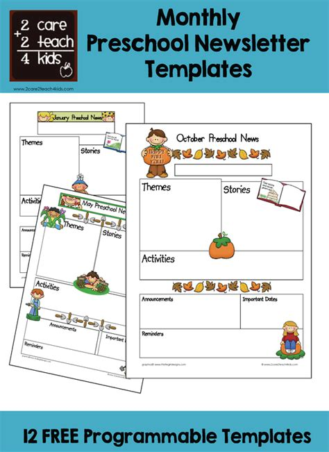 free newsletter templates for preschool preschool newsletters free printable templates